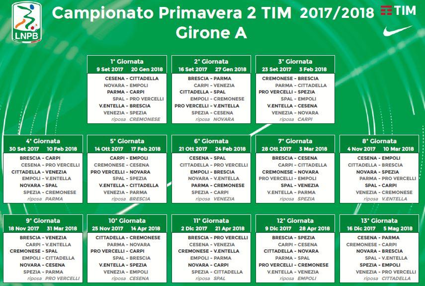 Calendario Campionato Di Calcio.Campionato Primavera Tim 2 Ecco Il Calendario Parma Calcio