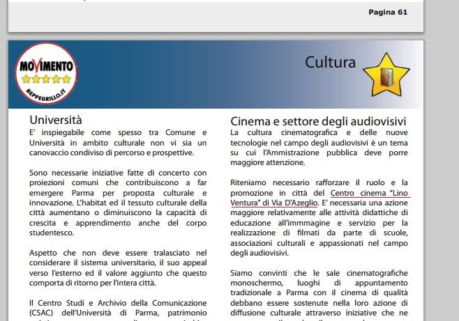 Centro Cinema - Le promesse 5stelle